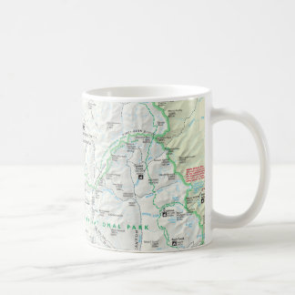 Sequoia/Kings Canyon map mug