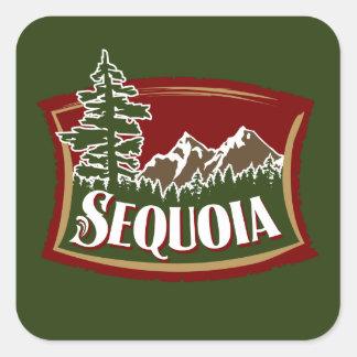 Sequoia Mountain Scene Square Sticker