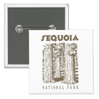 Sequoia National Park Pinback Buttons