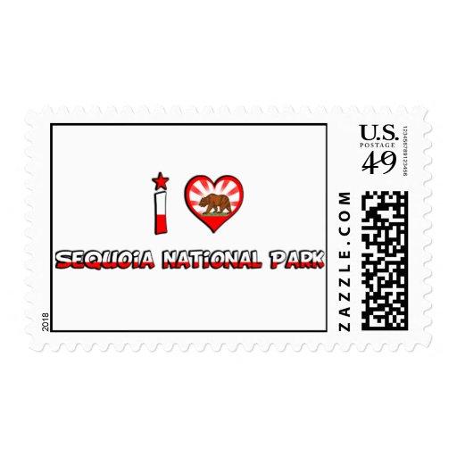 Sequoia National Park, CA Postage Stamp