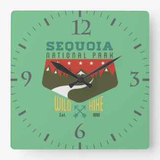 Sequoia National Park Square Wall Clock