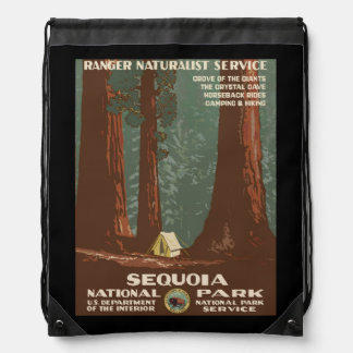 Sequoia National Park Drawstring Bag