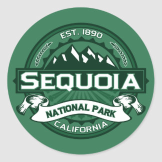 Sequoia National Park Logo Classic Round Sticker