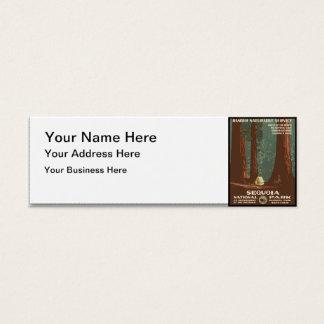 Sequoia National Park Mini Business Card