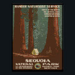 """Sequoia National Park Poster<br><div class=""""desc"""">Sequoia National Park - WPA Vintage Poster.   You can personalize the design further if you&#39;d prefer,  such as by adding your name or other text,  or adjusting the image - just click &#39;Customize&#39; to see all the options.</div>"""
