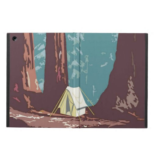 Sequoia National Park Tent Camping Case For iPad Air