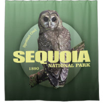 Sequoia NP (Spotted Owl) WT Shower Curtain