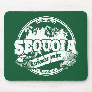 Sequoia Old Circle Green Mouse Pad