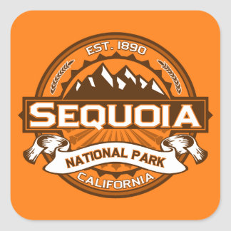 Sequoia Pumpkin Square Sticker
