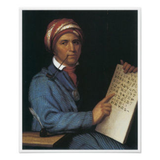 Sequoyah, 1830 poster