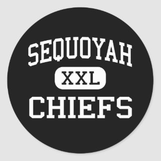 Sequoyah - Chiefs - High School - Canton Georgia Classic Round Sticker