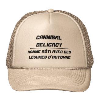 Ser humano asado delicadeza del caníbal gorras de camionero
