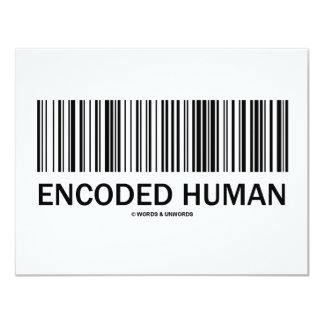 """Ser humano codificado (actitud del código de invitación 4.25"""" x 5.5"""""""