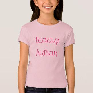 Ser humano de la taza de té (rosa) playera
