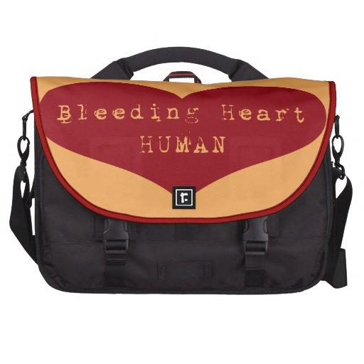Ser humano del corazón sangrante bolsas para ordenador