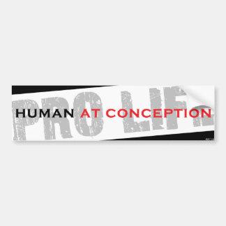 Ser humano en el concepto pegatina para auto