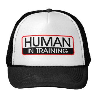 Ser humano en el entrenamiento gorras