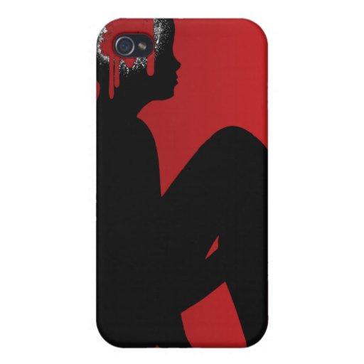 Ser humano en el rojo - plantilla del personalizar iPhone 4/4S funda