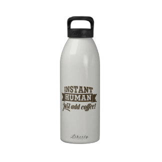 Ser humano inmediato botella de beber