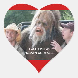 Ser humano/pegatina de la tarjeta del día de San Pegatina En Forma De Corazón