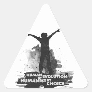 Ser humano por la evolución. Humanista por la Pegatina Triangular