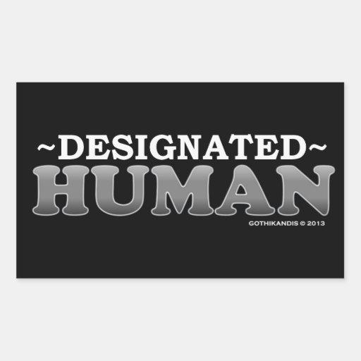 SER HUMANO señalado Pegatina Rectangular
