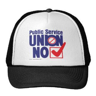 Ser público. Unión NINGÚN - casquillo Gorros Bordados