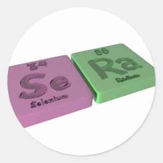 Sera as Se Selenium and Ra Radium Classic Round Sticker