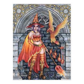 Serafina & Firenze - Fire Witch Postcard