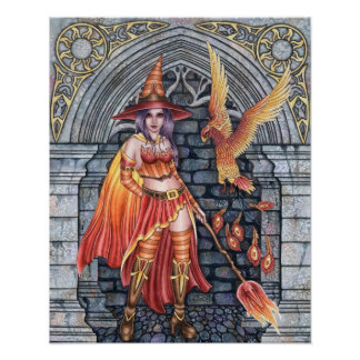 Serafina & Firenze - Fire Witch Poster