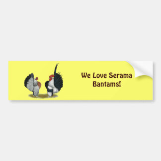 Serama Bantams Car Bumper Sticker