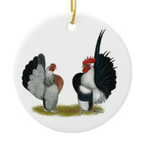 Serama Bantams Ceramic Ornament