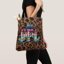 Serape Cactus Leopard Print Western Cowgirl Chic Tote Bag