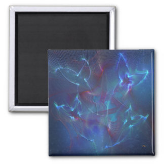 Seraphim Blue 2 Inch Square Magnet