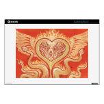 Seraphim (corazón con alas y serpientes llameantes calcomanía para 33cm portátil