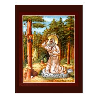 Seraphim del santo de la tarjeta del rezo de Sarov Tarjetas Postales