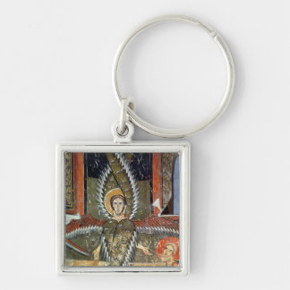 Seraphim purifying the lips of Isaiah Silver-Colored Square Keychain