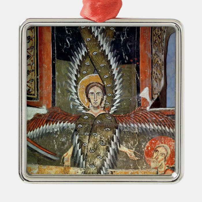 Seraphim purifying the lips of Isaiah Metal Ornament