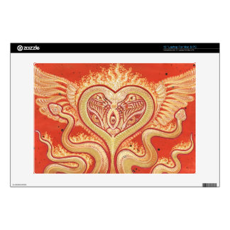 Seraphim (Winged Heart & Flaming Snakes) Skin For Laptop