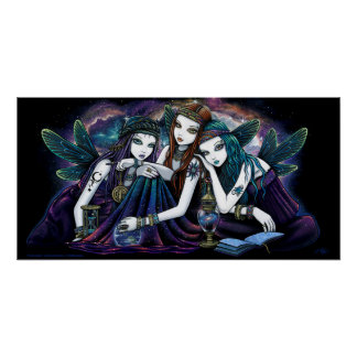 Seraphina Celestial Angels Nebula Fairy Poster