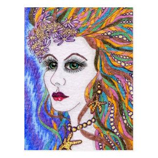 Seraphina, diosa del retrato de la sirena postales