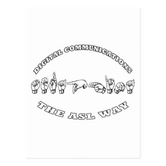 Seraphina la MANERA del ASL - COMUNICACIONES de Tarjeta Postal