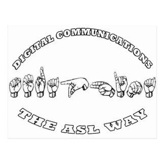 Seraphina la MANERA del ASL - COMUNICACIONES de Tarjetas Postales