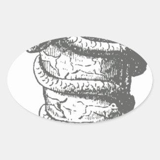Serapis Pegatina Ovalada