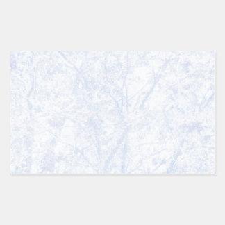 Serbal azul suave del tinte pegatina rectangular