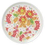 Serbal floral platos