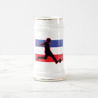 Serbia and Montenegro Striker 2 18 Oz Beer Stein