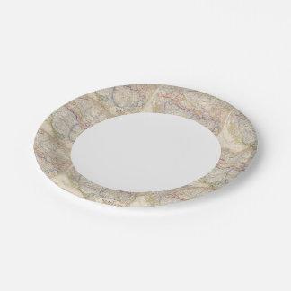 Serbia, Bosnia Paper Plate