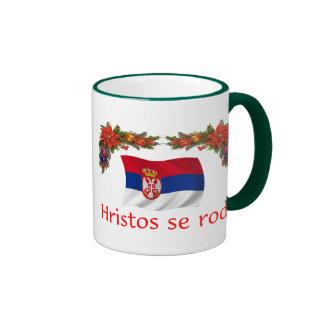 Serbia Christmas Ringer Coffee Mug