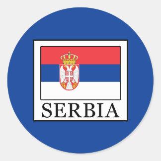 Serbia Classic Round Sticker
